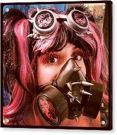 #hellokitty #gasmask #goggles #mask Acrylic Print