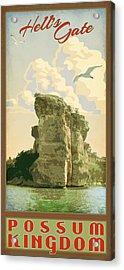 Hell's Gate Possum Kingdom Lake Acrylic Print by Jim Sanders