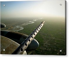 Helmand River Valley From The Air Acrylic Print by Jetson Nguyen