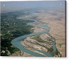 Helmand River Valley Meets Desert Acrylic Print by Jetson Nguyen