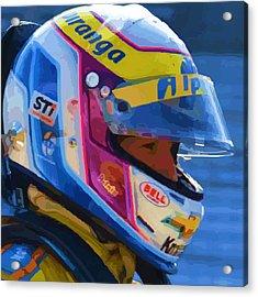 Helmet Of A Female Hero Acrylic Print