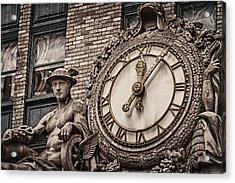 Helmsley Building Clock Acrylic Print