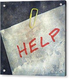 Help Acrylic Print by Bernard Jaubert