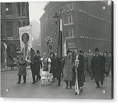 �help Hungary� Parade In Streets Of London Acrylic Print by Retro Images Archive