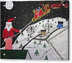 Help Santa's Stuck Acrylic Print by Jeffrey Koss