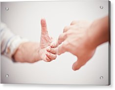 Helping Hand Acrylic Print by Fzant