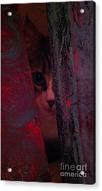 Acrylic Print featuring the photograph Helping In The Art Studio by Jacqueline McReynolds
