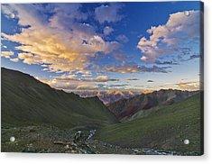 Hemis Sunset Acrylic Print by Aaron Bedell