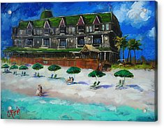 Henderson Inn Destin Florida Acrylic Print by Carole Foret