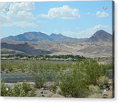Acrylic Print featuring the photograph Henderson Nevada Desert by Emmy Marie Vickers