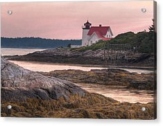 Hendricks Head Light At Sunset Acrylic Print by At Lands End Photography
