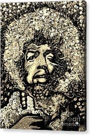 Jimi Hendrix Acrylic Print by Michael Kulick
