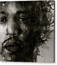 Hendrix   Black N White Acrylic Print