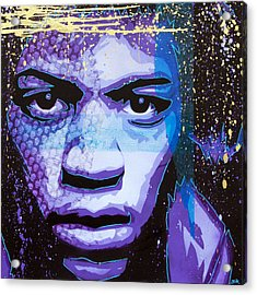 Hendrix - Eyes Of Neptune - Alternate Acrylic Print by Bobby Zeik