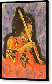 Hendrix Acrylic Print by Michael McGrath