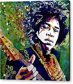 Hendrix Acrylic Print by Rebecca Foster