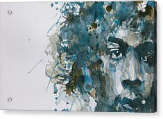 Hendrix Watercolor Abstract Acrylic Print by Paul Lovering