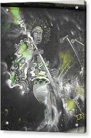 Hendrix X-ray #1 Acrylic Print by Erik Franco