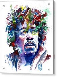 Hendrixhead Acrylic Print by Ken Meyer jr