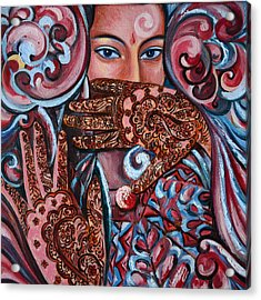 Acrylic Print featuring the painting Henna by Harsh Malik