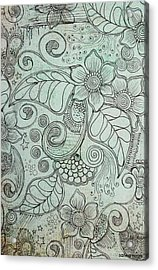 Henna Pattern Acrylic Print by Salwa  Najm