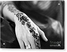 Henna Tattoo Acrylic Print