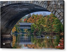 Acrylic Print featuring the photograph Henniker Covered Bridge No. 63 by Jeff Folger