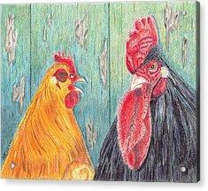 Henpecked Acrylic Print