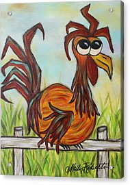 Ol' Rooster Acrylic Print by Molly Roberts