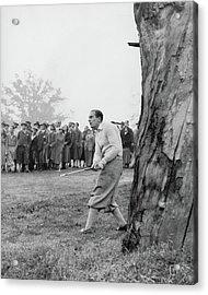 Henry Cotton Playing Golf Acrylic Print by Keystone Press Agency Ltd