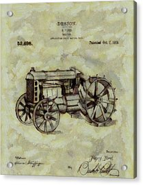 Henry Ford Tractor Patent Acrylic Print