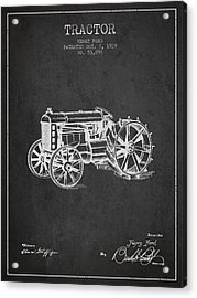 Henry Ford Tractor Patent  From 1919 - Dark Acrylic Print