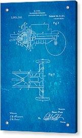 Henry Ford Transmission Mechanism Patent Art 1911 Blueprint Acrylic Print by Ian Monk