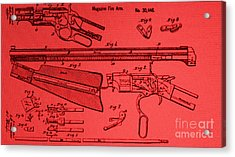 Henry Rifle Patent Drawing Acrylic Print by Steven Parker