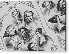 Henry V I I I And Wives Acrylic Print