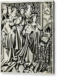 Henry Vi And His Court At  Prayer Acrylic Print by Mary Evans Picture Library