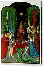 Henry Viii Charles V And Leo X Acrylic Print by British Library