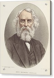Henry Wadsworth Longfellow Acrylic Print