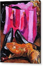 Her Closet Acrylic Print by Carole Foret
