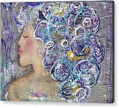 Her Creative Mind Acrylic Print