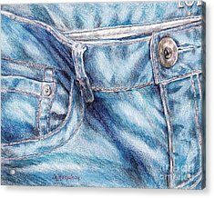 Her Favorite Pair Of Jeans Acrylic Print