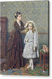 Her First Communion Acrylic Print by George Goodwin Kilburne