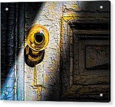 Her Glass Doorknob Acrylic Print by Bob Orsillo