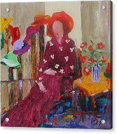 Her Hats Acrylic Print by Irit Bourla