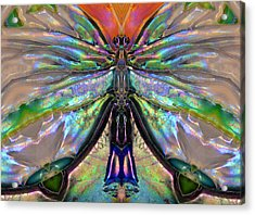 Her Heart Has Wings - Spiritual Art By Sharon Cummings Acrylic Print by Sharon Cummings
