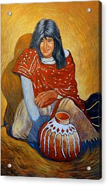 Acrylic Print featuring the painting Her Last Pot by Charles Munn
