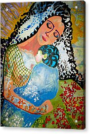 Acrylic Print featuring the painting Her Love by Amy Sorrell
