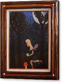 Her Night Light  Acrylic Print by Yvonne  Kroupa