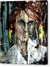 Her Own Mind Acrylic Print by P J Lewis