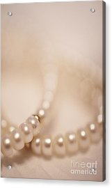 Her Pearls Acrylic Print by Trish Mistric